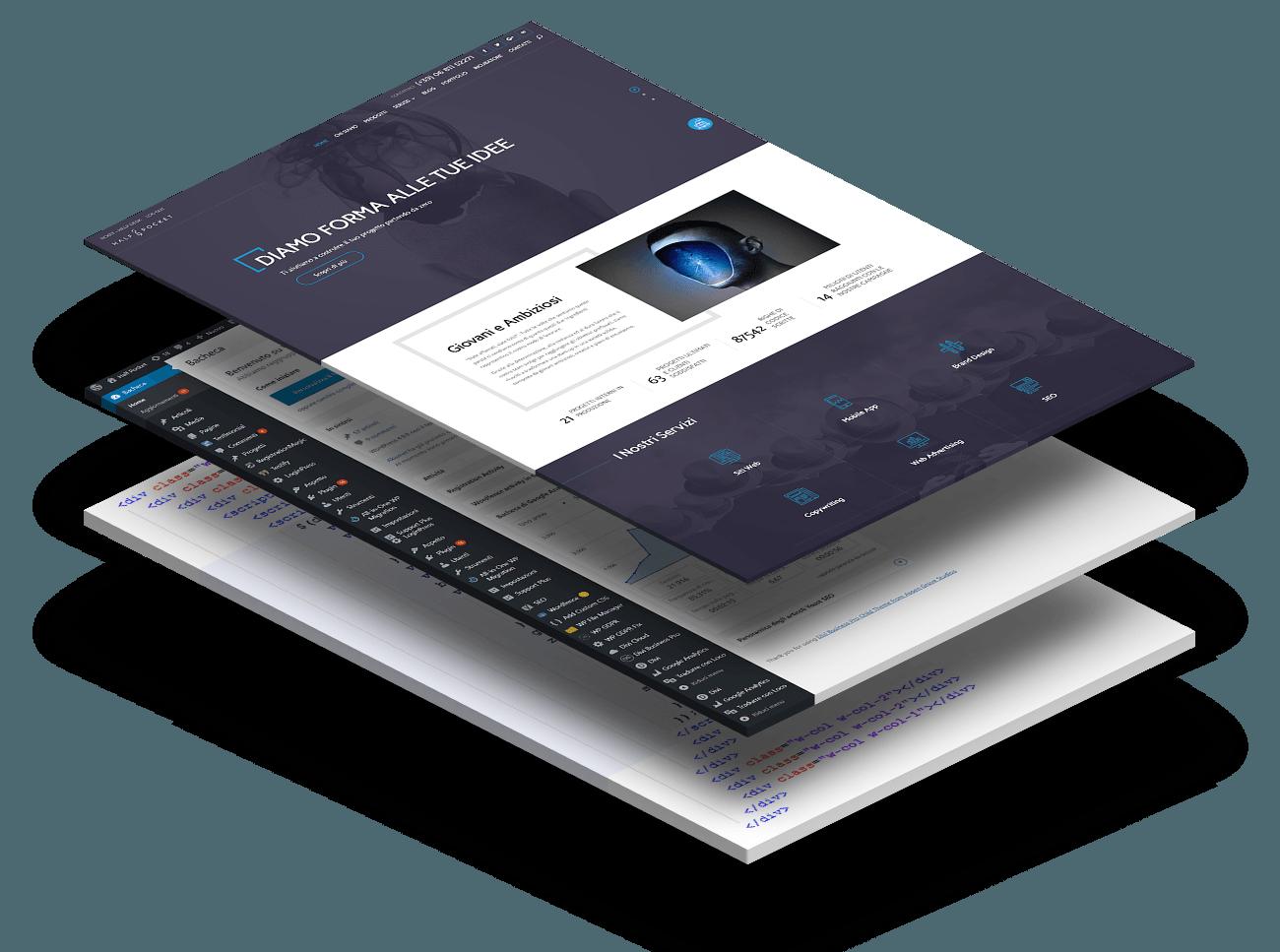 Implementazione del sito web