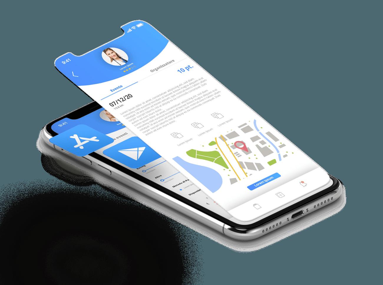 caricamento sugli stor ios e android dell'applicazione